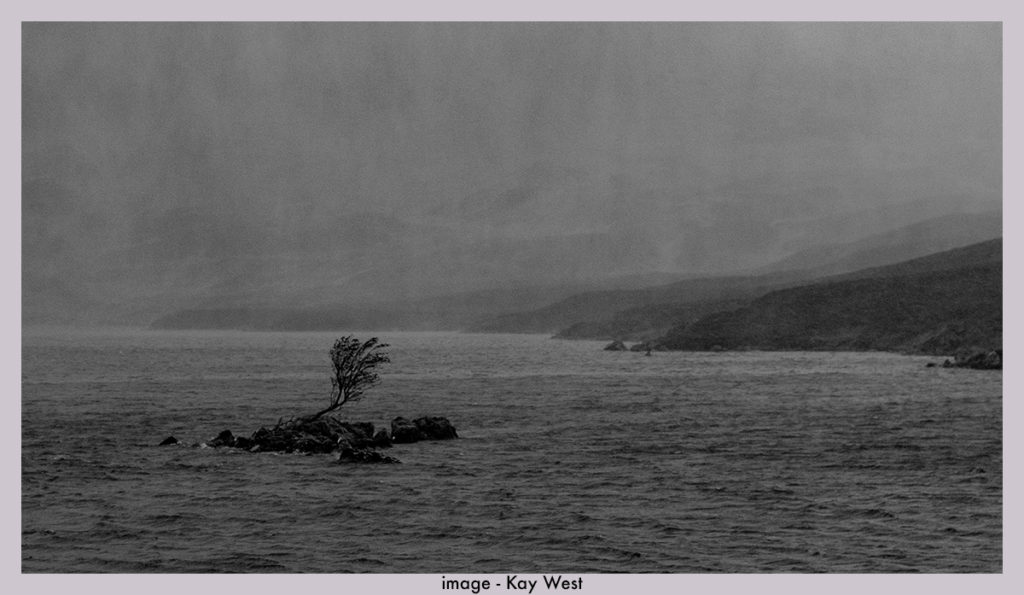 Loch Skeen in wet weather