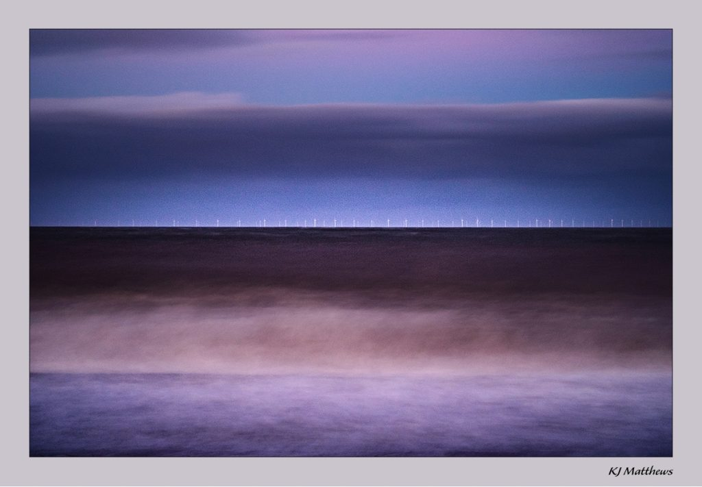 Long exposure at dusk at Cley