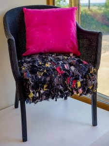 Black Rag Rug Loom Chair - Deborah Dutton