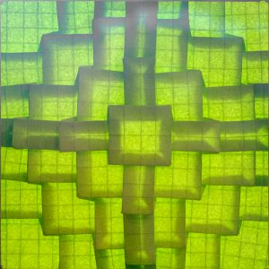 Green Cross Origami - Helen Verrill